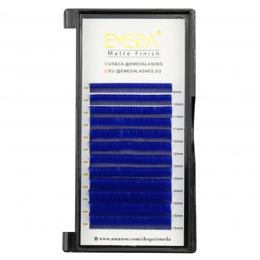 0.07mm J B C D Curl Blue Eyelash Extensions