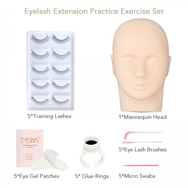 Professional Mannequin Head Training For Beginners eyelash extension  kit