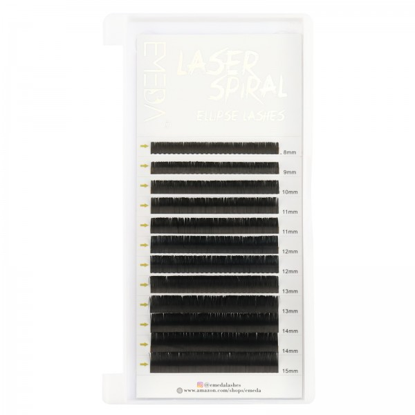 0.15mm C D Curl Laser Micro-groove Eyelash Extensions