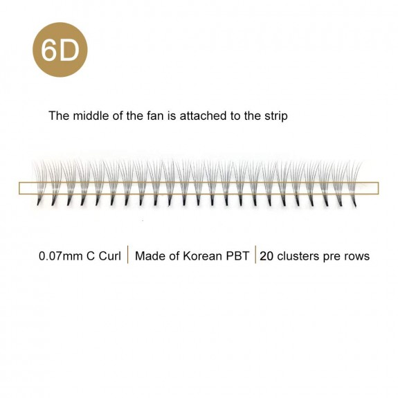 0.07 C Curl 8-12MM Mix Tray 6D Premade Volume Fans vendor
