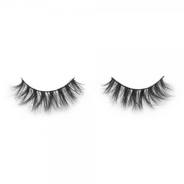 wholesale 3D mink lashes and packaging 100% Handmade Strip Lashes