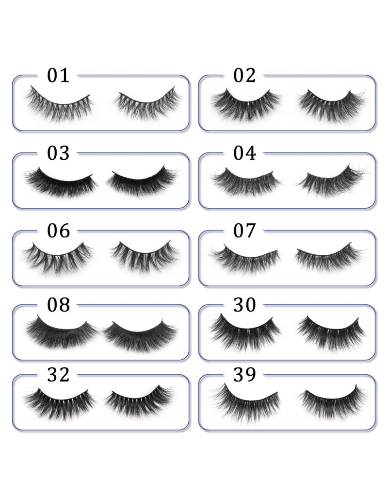 3D Mink platinum grade P02 100% Handmade Strip Lashes