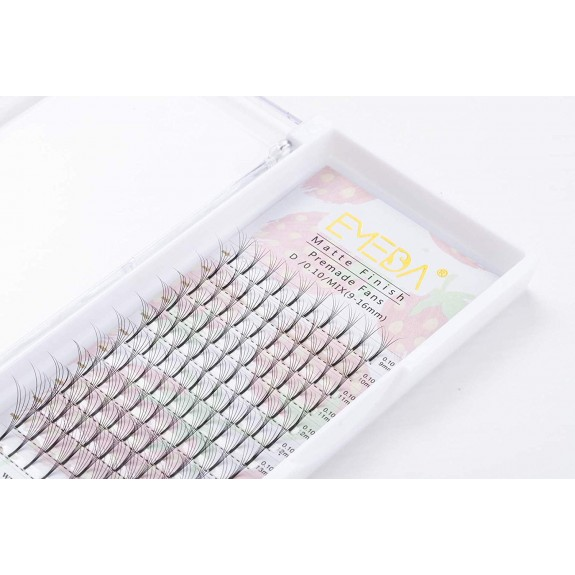 C D Curl 0.10mm Thickness 11mm 12mm 13mm 14mm 15mm Singe Length Premade Fans Volume Lash Extesnions by EMEDA