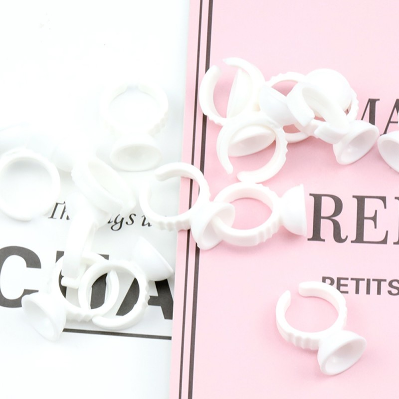 Eyelash Extension Makeup Glue Rings