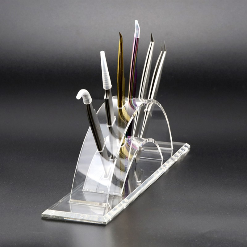 Acrylic Eyelash Extension Tweezer Holder for Tweezer Display Tools