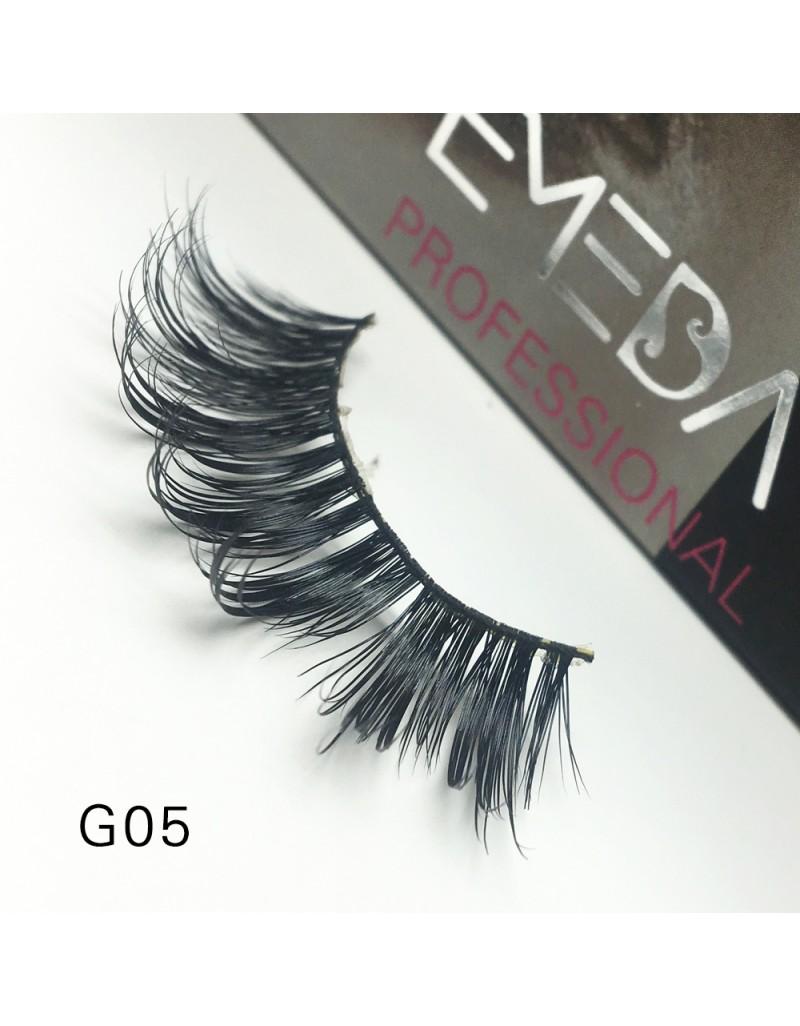 100% Real Mink Fur 3D Strip Lashes G05
