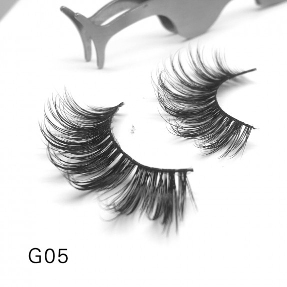 100% Real Mink Fur 3D Strip Lashes G05