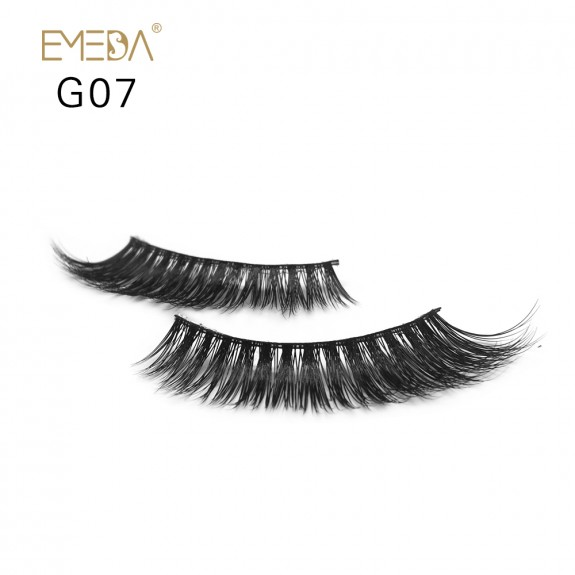 100% Real Mink Fur 3D Strip Lashes G07