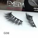 100% Real Mink Fur 3D Strip Lashes G08