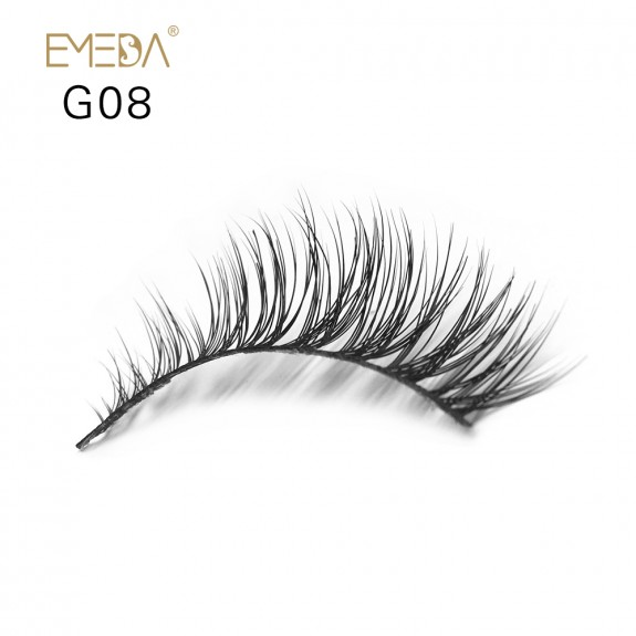 100% Real Mink Fur 3D Strip Lashes G08