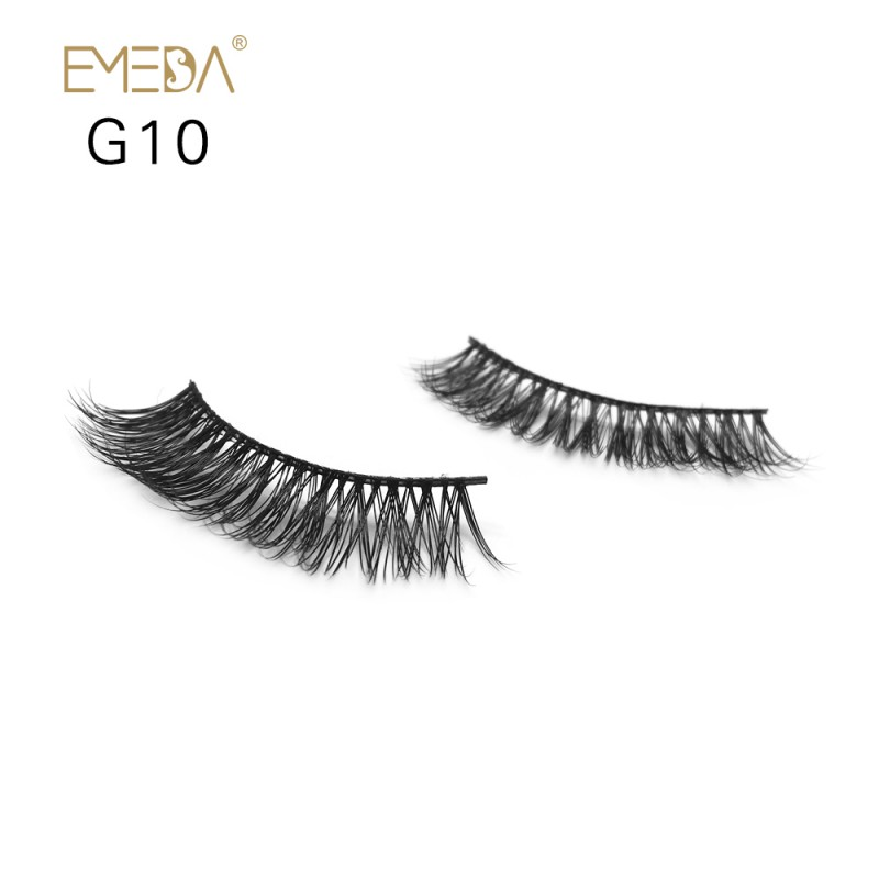 100% Real Mink Fur 3D Strip Lashes G10