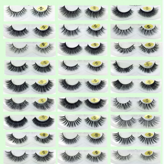 100% Handmade 3D Mink Fur Strip Eyelashes YY-3D33