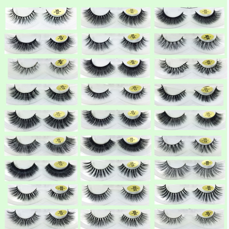 Best Seller Mink Fur 3D False Strip Lashes YY-3D50