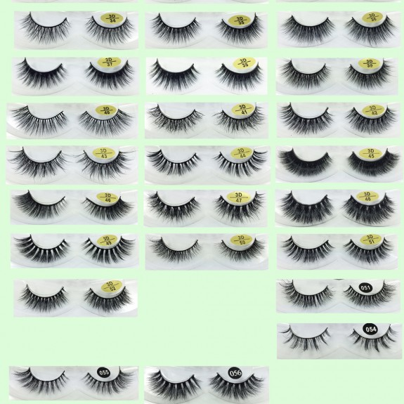High Quality 3D Mink Fur Eyelashes YY-3D02