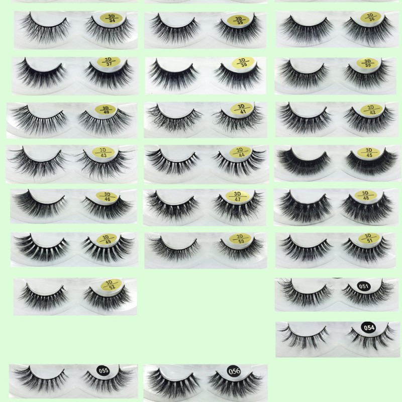 Cheap Price 3D Real Mink  Fur False Strip Lashes YY-3D52