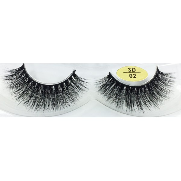 High Quality 3D Mink Fur Eyelashes YY-3D02