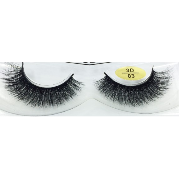 Free Shipping 3 Pairs Natural Looking 3D Mink Fur Fake Eyelashes 3D01-3D03