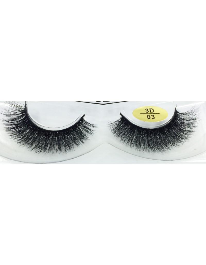 100% Real Mink Fur 3D False Eyelashes YY-3D03
