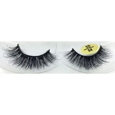 100% Real Mink Fur Strip Eyelashes YY-3D04