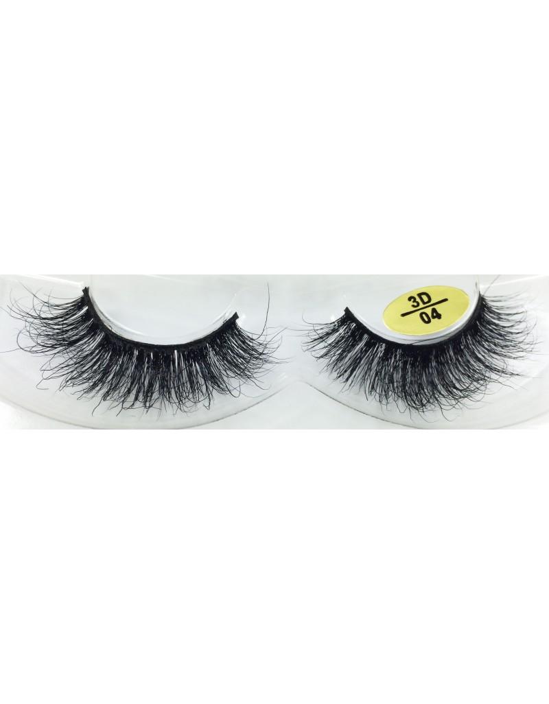 100% Real Mink Fur Strip Eyelashes YY-3D04