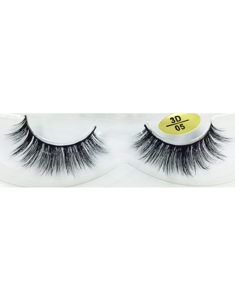100% Real Mink Fur 3D Fake Eyelashes YY-3D05