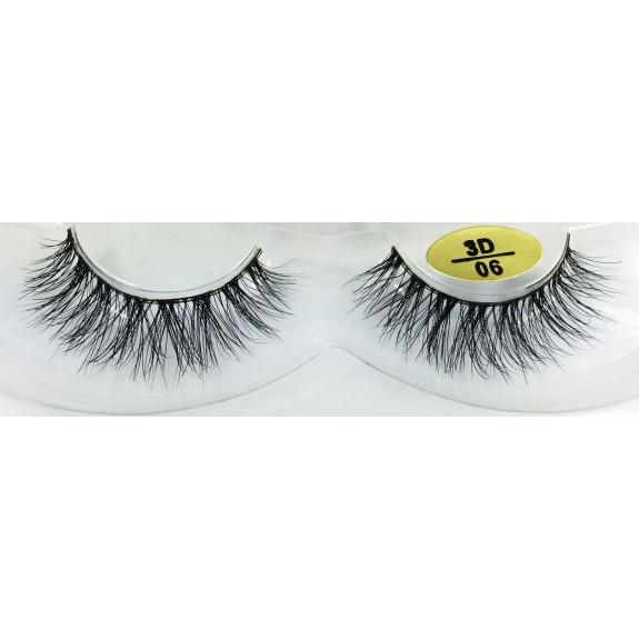 100%  Handmade 3D Mink Fur False Eyelashes YY-3D06