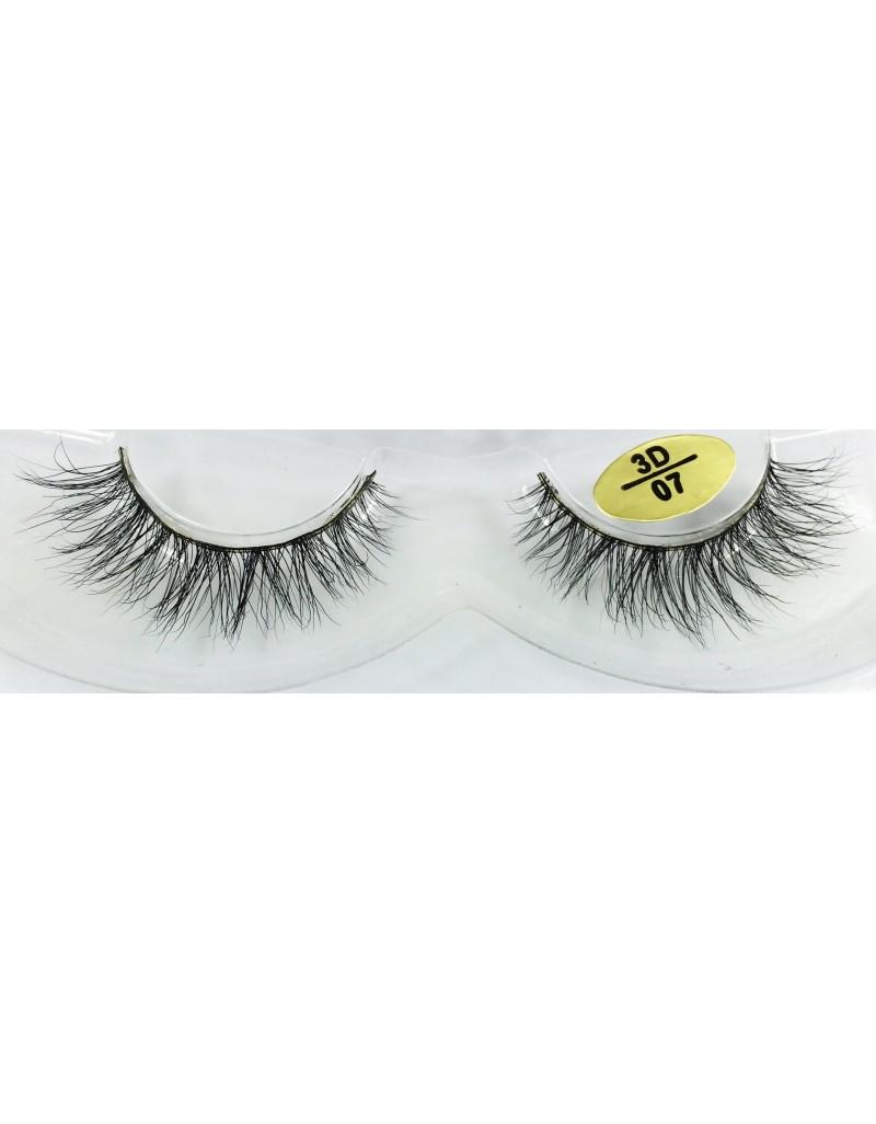 Real Mink Fur 3D Mink Fake Eyelashes YY-3D07