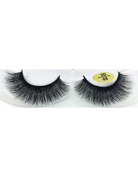 100%  Real Mink Fur 3D Strip Eyelashes YY-3D08