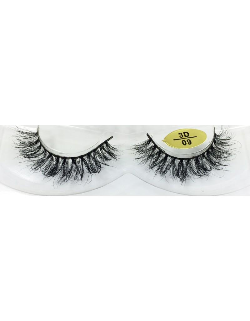 100% Real Mink Fur 3D False Eyelashes YY-3D09