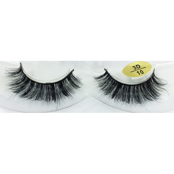 Free Shipping 3 Pairs Natural Looking 3D Mink Fur Fake Eyelashes 3D10-3D12