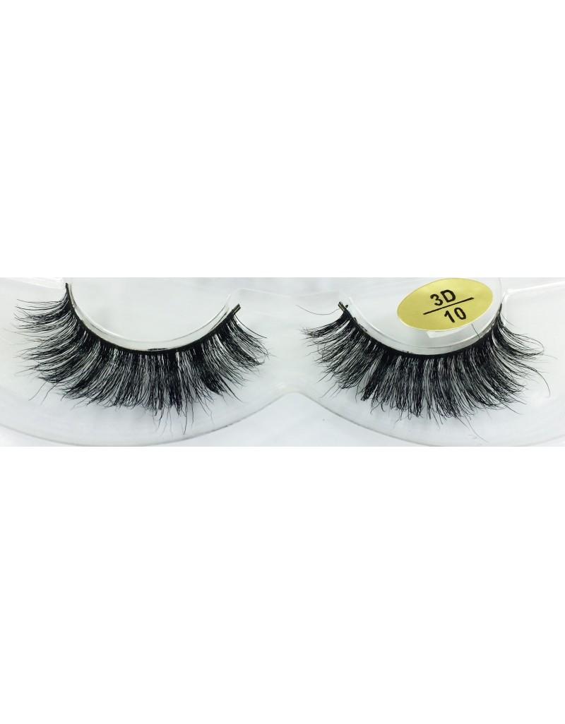 100% Handmade Real Mink Fur 3D False Eyelashes YY-3D10