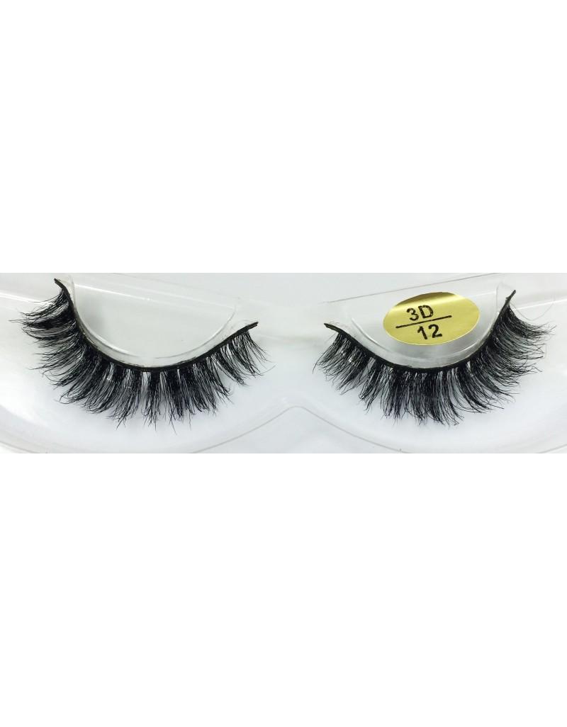 Best Seller 3D Real Mink Fur Eyelashes YY-3D12