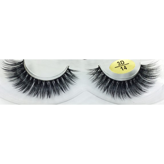 Fast Seller 3D Real Mink Fur Strip Eyelashes YY-3D14