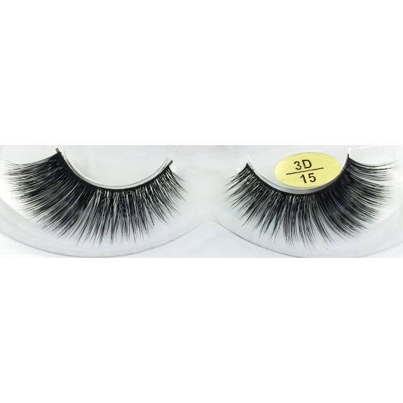 Private Label for Real Mink Fur 3D False Eyelashes YY-3D15