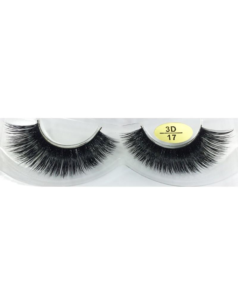 100% Real Mink Fur Fake Eyelashes YY-3D17