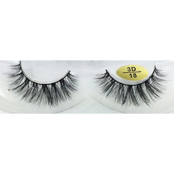 Customized Package 3D Mink strip Eyelashes YY-3D18