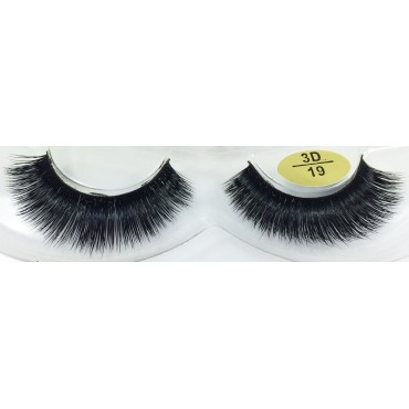 Natural 3D Real Mink Fake Eyelashes YY-3D19