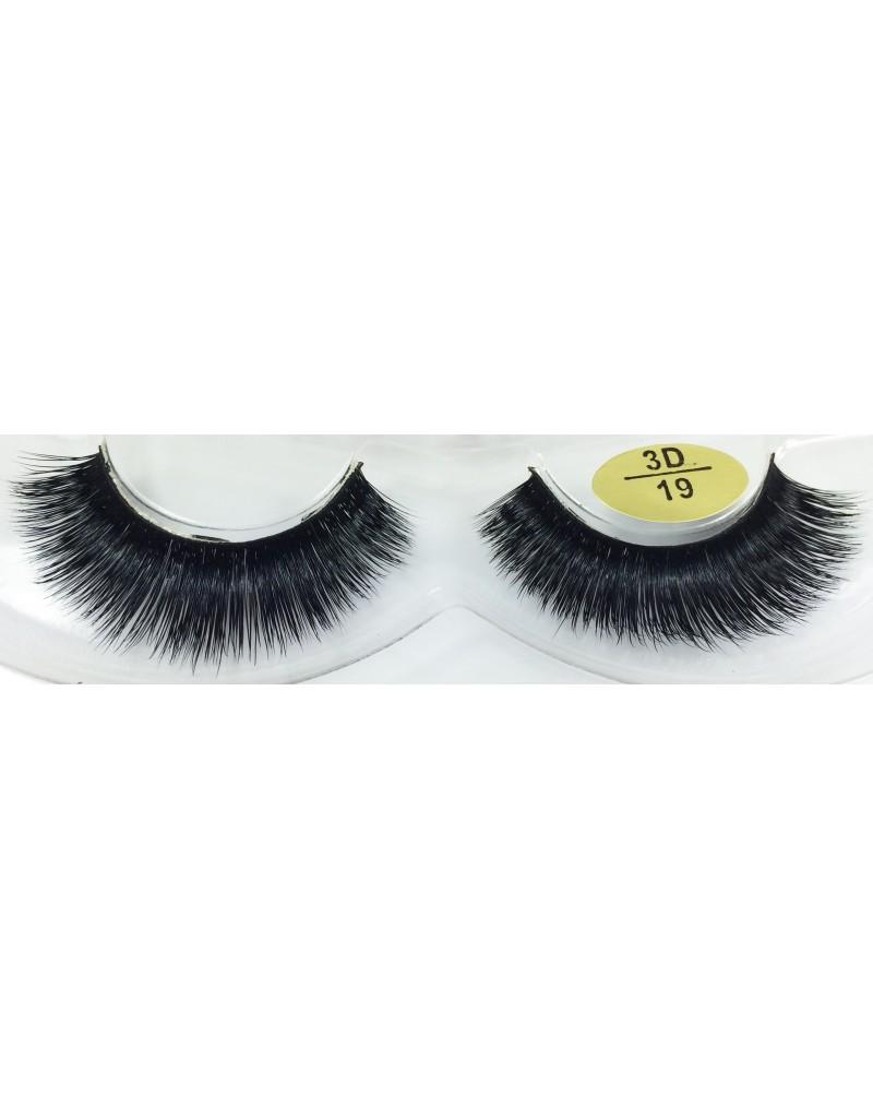 Natural 3D Real Mink Fake Eyelashes YY-3D19