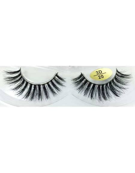 100% Handmade 3D Real Mink Strip False Eyelashes YY-3D20