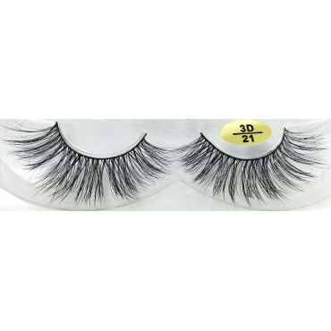 Natural Look 3D Real Mink Fur Eyelashes YY-3D21