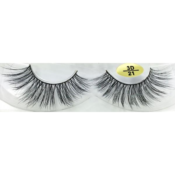 Natural Look 3D Real Mink Fur Eyelashes YY-3D21