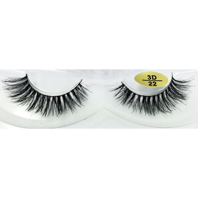 Free Shipping 3 Pairs Natural Looking 3D Mink Fur Fake Eyelashes 3D22-3D24