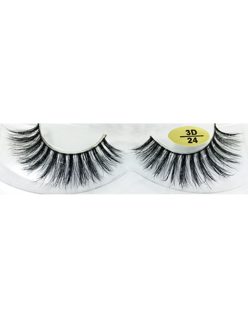 Professional 3D Real Mink  Strip Lashes YY-3D24