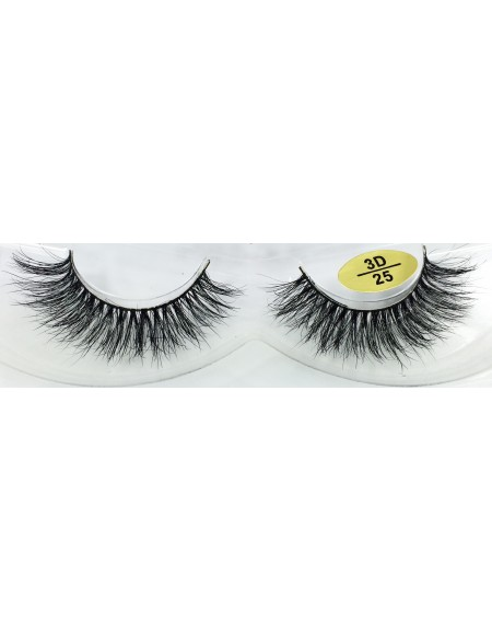 100% Real Mink 3D Strip Lashes YY-3D25