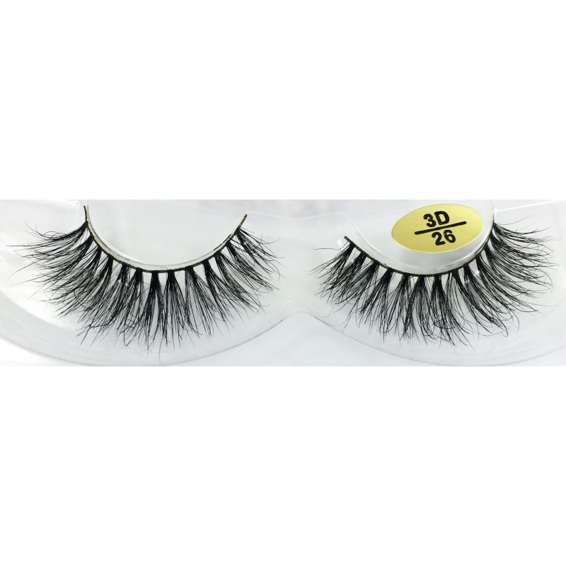 Free Shipping 3 Pairs Natural Looking 3D Mink Fur Fake Eyelashes 3D25-3D27