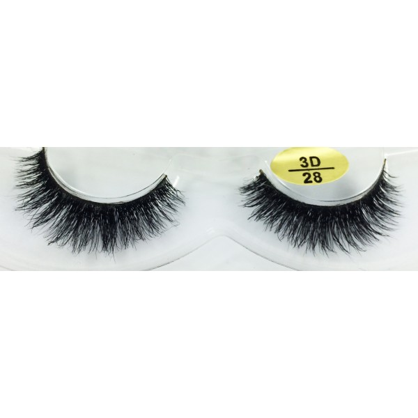 100% Real Mink  fur 3D Fake Lashes YY-3D28