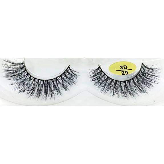 Free Shipping 3 Pairs Natural Looking 3D Mink Fur Fake Eyelashes 3D28-3D030