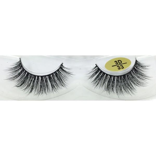 100% Handmade 3D Mink Fur Strip Eyelashes YY-3D33