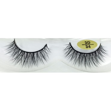 Wholesale Real Mink 3D Lashes YY-3D34