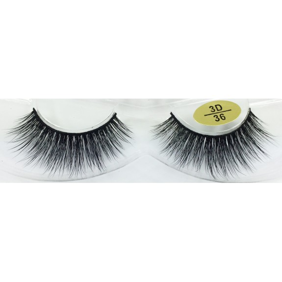 Free Shipping 3 Pairs Natural Looking 3D Mink Fur Fake Eyelashes 3D34-3D36